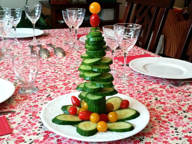 Sapin de Noël concombre